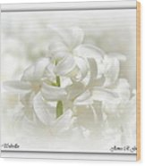 White Umbrellas Wood Print