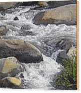White Water Composition Wood Print