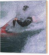 White Water Kayaker Wood Print