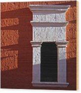 White Window Wood Print
