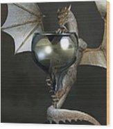 White Wine Dragon Wood Print