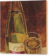 White Wine-joyous Wood Print