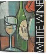 White Wine Poster Wood Print