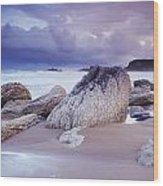 Whitepark Bay, Co Antrim, Ireland Rocks Wood Print