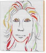 Whitney Houston A Memory Wood Print