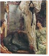 Who Is It Wood Print by Sir Lawrence Alma-Tadema
