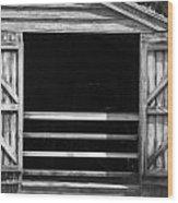 Who Opened The Barn Door Wood Print by Teresa Mucha