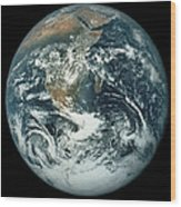 Whole Earth, Showing Antartica, Africa And Arabia Wood Print