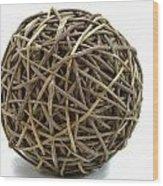 Wicker Ball Wood Print