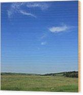 Wide Open Alberta Prairies Wood Print
