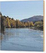 Wide River Wood Print