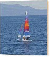 Wide Sail Wood Print