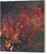 Widefield View Of He Crescent Nebula Wood Print
