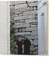 Widows At The Wall Wood Print