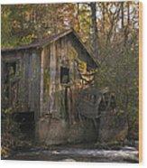 Wilbanks Mill On Dicks Creek Wood Print