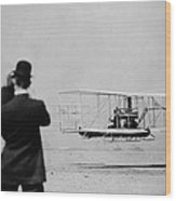 Wilbur Wright 1867-1912 Takes Wood Print by Everett