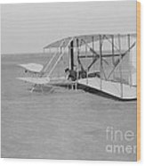 Wilbur Wright Crash Landing In Wright Wood Print