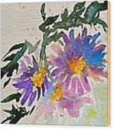 Wild Asters Wood Print