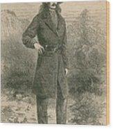 Wild Bill Hickok 1837-1876, Portrait Wood Print by Everett