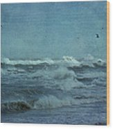 Wild Blue - High Surf - Outer Banks Wood Print
