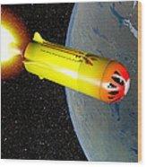Wild Fire Private Spacecraft, Art Wood Print by Christian Darkin