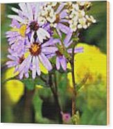 Wild Floral Wood Print