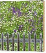 Wild Flowers On A Meadow Wood Print by Jorg Greuel