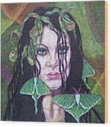 Wild Green Things Wood Print by Diana Shively