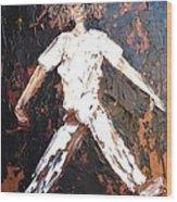 Wild Haired Dancer Wood Print