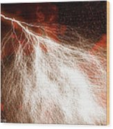 Wild Lightning  Wood Print