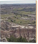 Wild Mountain Goat On Top Of The Badlands Wood Print