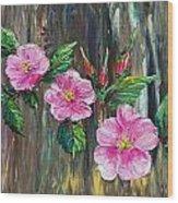 Wild Roses 09 Wood Print