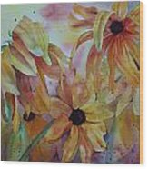 Wild Sunflowers Wood Print