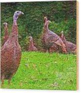 Wild Turkey - 4 Wood Print
