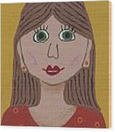Wild Woman One Wood Print by Marilyn West