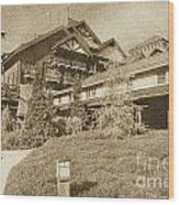 Wilderness Lodge Resort Beach Walt Disney World Prints Vintage Wood Print