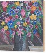 Wildflowers Wood Print by Jeanette Stewart