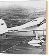 Wiley Posts Plane Winnie Mae Overhauled Wood Print by Everett