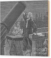 William And Caroline Herschel, German Wood Print