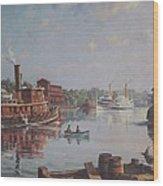William G Muller Rondout Creek Wood Print