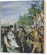 William Penns Treaty, 1682 Wood Print