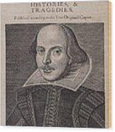 William Shakespeare First Folio Wood Print