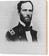 William Tecumseh Sherman, Union General Wood Print