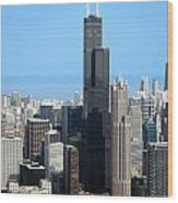 Willis Sears Tower 01 Chicago Wood Print