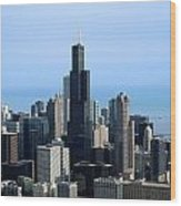 Willis Sears Tower 02 Chicago Wood Print