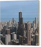 Willis Sears Tower 03 Chicago Wood Print