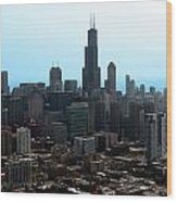 Willis Sears Tower 04 Chicago Wood Print