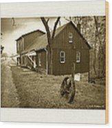 Williston Mill - Sepia Wood Print