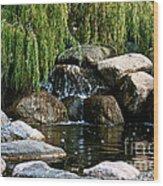 Willow Falls Wood Print