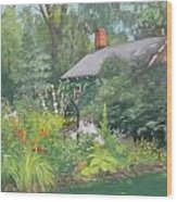 Willowwood Garden Wood Print